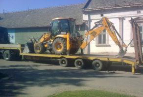 Prevoz građevinskih mašina Stari Banovci Autoprevoznik Đuro Karapešev